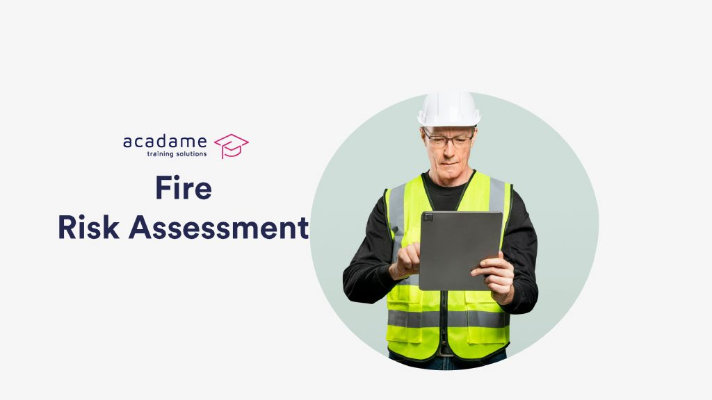 Our Health & Safety Consultant Performing A Fire Risk Assessment